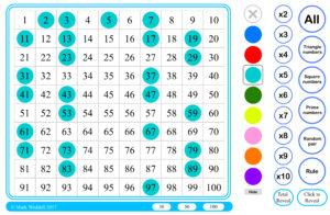 100 square dots